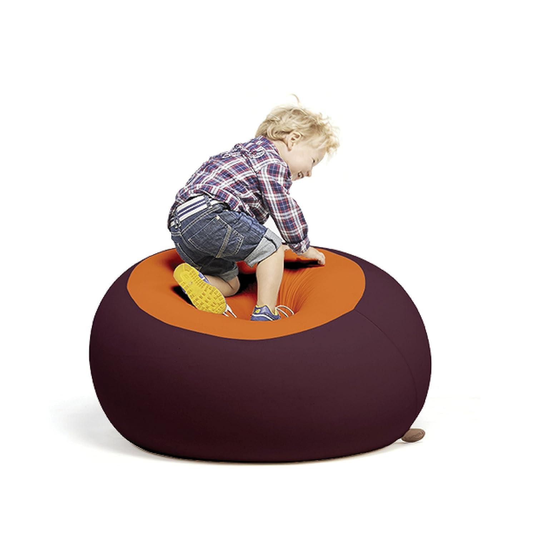 """""""Stanley"""", Multifunktionaler Therapie Sitzsack, Ergonomisch, 70x70x80 cm (Aubergine/Orange)"""