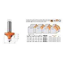 CMT Orange Tools 880.501.11 Solid Surface Rounding Over Bit with Bearing