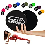 HomeGym 4U Set of 2 Gliding Discs, Dual Sided Abdominal Sliders for Carpet or Hardwood Floor, Core Trainer Fitness Equipment for Full Body Workout, Cr