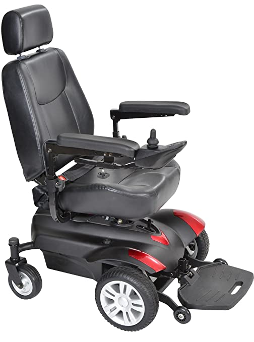 Drive Medical titan18cs Titan Transportable Front Wheel Power Wheelchair Full Back Captain'S Seat 18 X