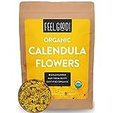 Organic Calendula Flowers - Whole - 4oz Resealable Bag - 100% Raw From Egypt - by Feel Good Organics