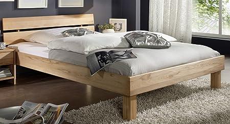 """Doppelbett Bett """"Lewis"""" 180x200cm Kernbuche massiv Holz geölt"""