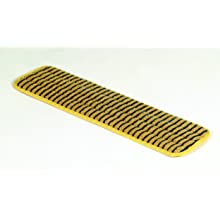 "Rubbermaid Commercial FGQ81000 Hygen Microfiber Single-Sided Super Scrubber Mop, 20"" Length x 5.5"" Width x 0.5"" Height, Yellow"