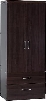 Charles 2 para puerta 2 chapado en armario de color madera de nogal