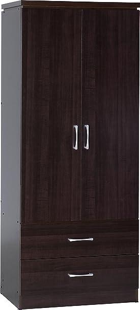 Charles 2 para puerta armario 2 en chapado en efecto de madera de nogal