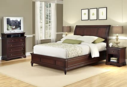 Home Styles Lafayette Queen Sleigh Bed, Night Stand and Chest