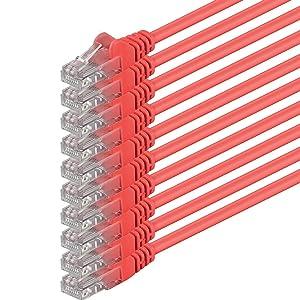 1aTTack - Cable de red UTP con conectores RJ45 (cat. 6) rojo - 10 Unidades  Informática Comentarios y más información