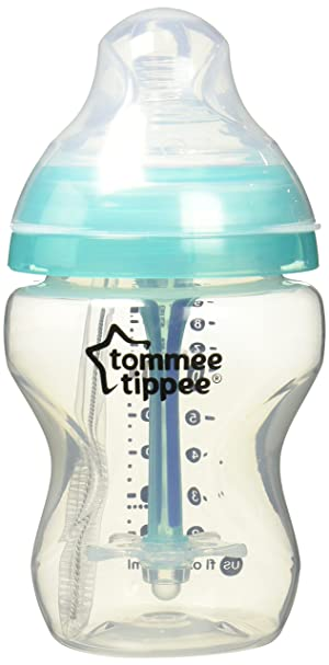 Tommee Tippee Advanced Anti-Colic Baby Bottle, Heat Sensing Technology, Breast-Like Nipple, BPA-Free, 9 Ounce, 2 Count (Color: Translucent, Tamaño: 2 Count)