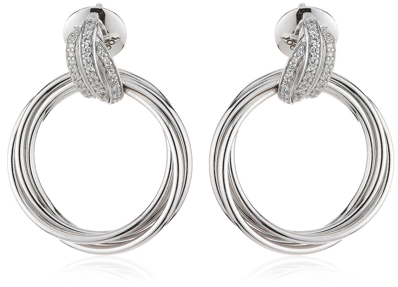 Joop Damen-Ohrstecker 925 Sterling Silber Zirkonia Embrace 3.1 cm weiß JPER90300A000 günstig bestellen