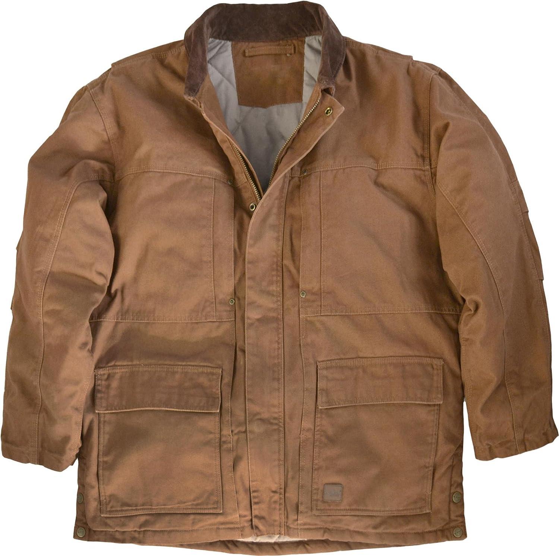 Herren Winterjacke Workwear Canvas Jacke mit Steppfutter