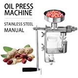 Forkwin Oil Press Manual Stainless Steel Oil Press Machine Portable Oil Expeller for Soybeans Peanuts Corn Sesame (Color: Manual)