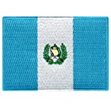 Guatemala Flag Embroidered Patch Guatemalan Iron-On National Emblem (Color: Blue, Tamaño: 3.5-inches)