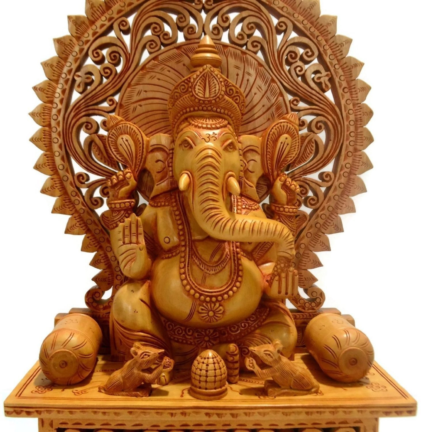Buy Collectible India Ganesh Statue Showpiece Figurine Wooden