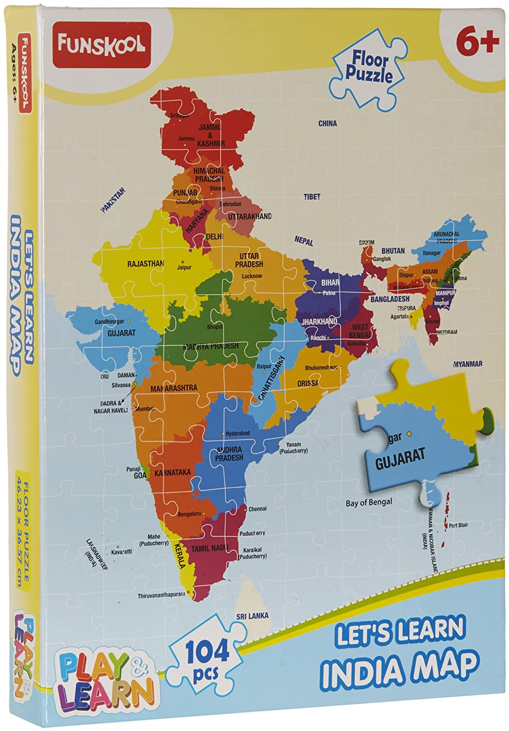 Buy Funskool India Map Puzzles Online At Low Prices In India - Us states map puzzle game