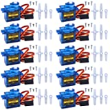 10 pcs SG90 9G Micro Servo Motor Kit for RC Robot Arm Helicopter Airplane Remote Control