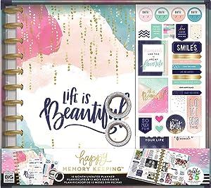 Me & My Big Ideas Life is Beautiful Undated 12-Month Big Planner Box Kit (Color: Original Version)