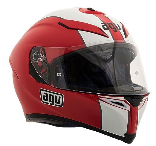 AGV K5 Sv Naked moto casque blanc rouge