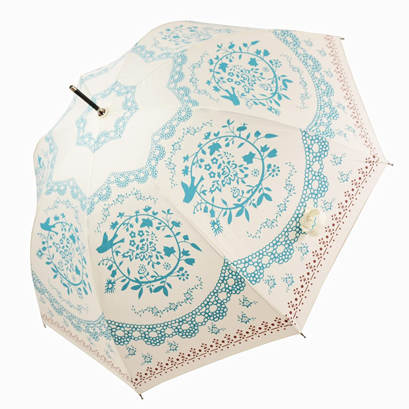 Kung Fu Smith Vintage Flower Totem Print Bubble Dome Rain Umbrella 1