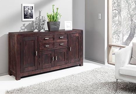 SAM® Kommode Timber 6649 aus Akazienholz, Sideboard tabakfarben, massiv, 4 Schubladen, 4 Holzturen, viel Stauraum