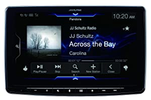 Alpine iLX-F309 HALO9 9 AM/FM/audio/video Receiver w/ 9-inch Touch Screen and Mech-less Design - Single-DIN Mounting (Color: Black, Tamaño: 9 inches)