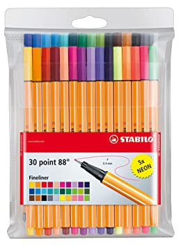 stabilo 88 fine point pens  for coloring