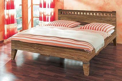 XXS® Möbel Massiv Holzbett Cubus 180 x 200 cm natur Optik robust und widerstandsfähiges Design Bett mit pflegeleichter Oberfläche teilzerlegt Lager Speditionsversand
