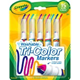 Crayola 5 Count Washable Triple Tip Markers (Color: Assorted, Tamaño: 1-Pack)