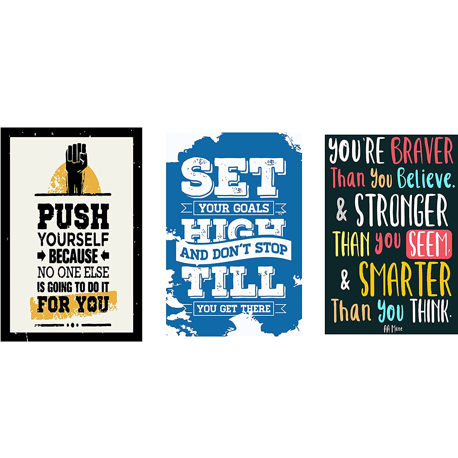 Posters for bedroom doors - Combo Pack Of Motivational Quotes Wall Poster Quotes Motivation 12x18 By Vprint
