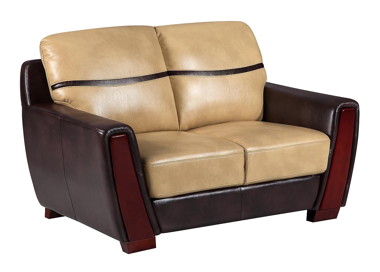 Global Furniture UFM226 - DTP672P - L Pluto Loveseat - Ivory/Chocolate