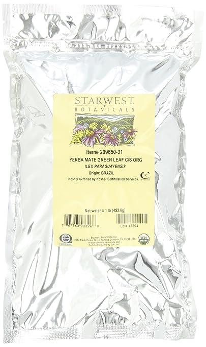 Отзывы Starwest Botanicals Organic Yerba Mate Leaf Green C/s