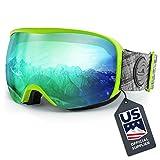 Wildhorn Cristo Ski Goggles - US Ski Team Official Supplier - Snow Goggles for Men, Women & Youth (Color: Citrus-Emerald)