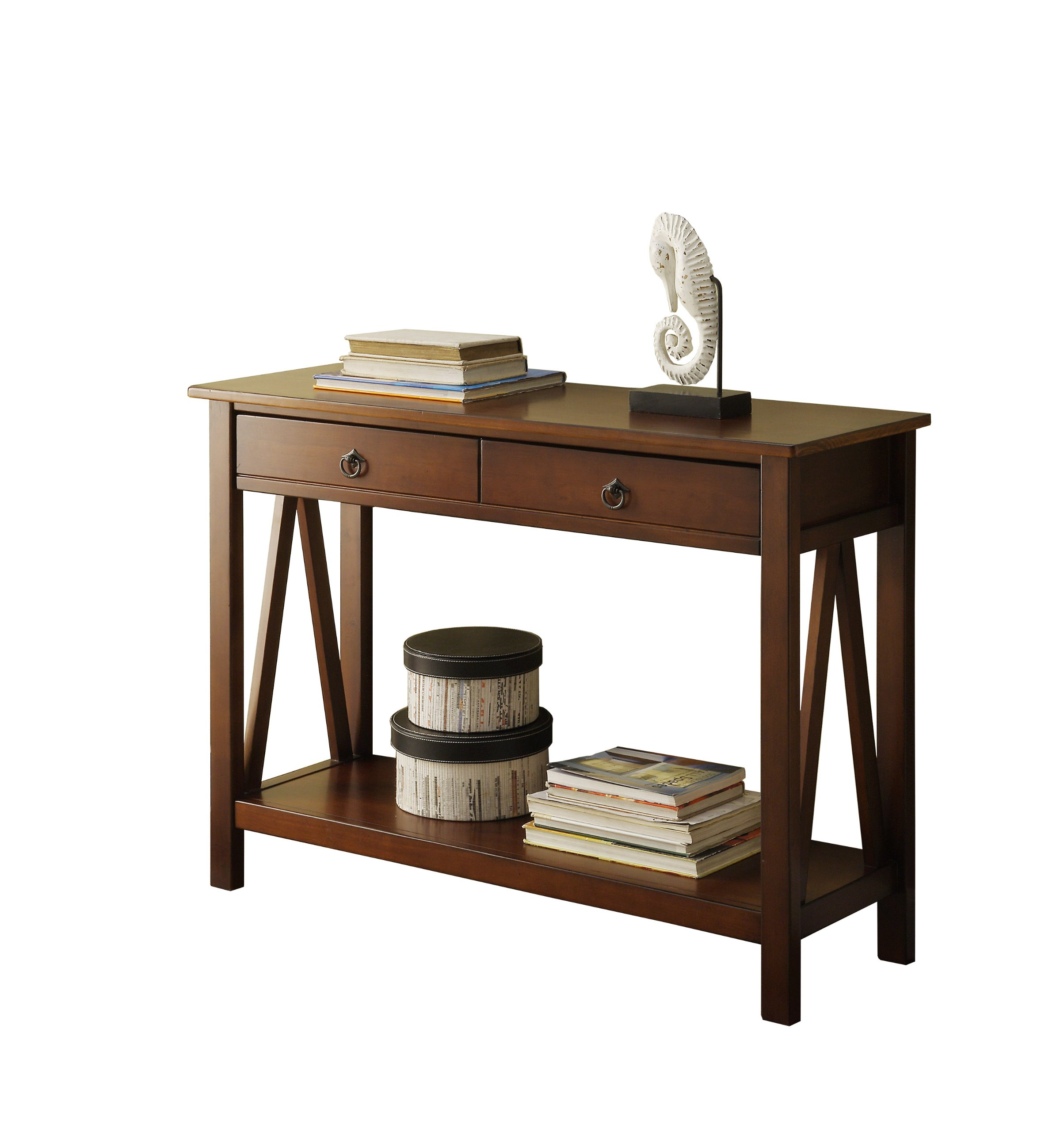 Art Van Coffee Table Sets: Linon Home Decor Titian Antique Console Table