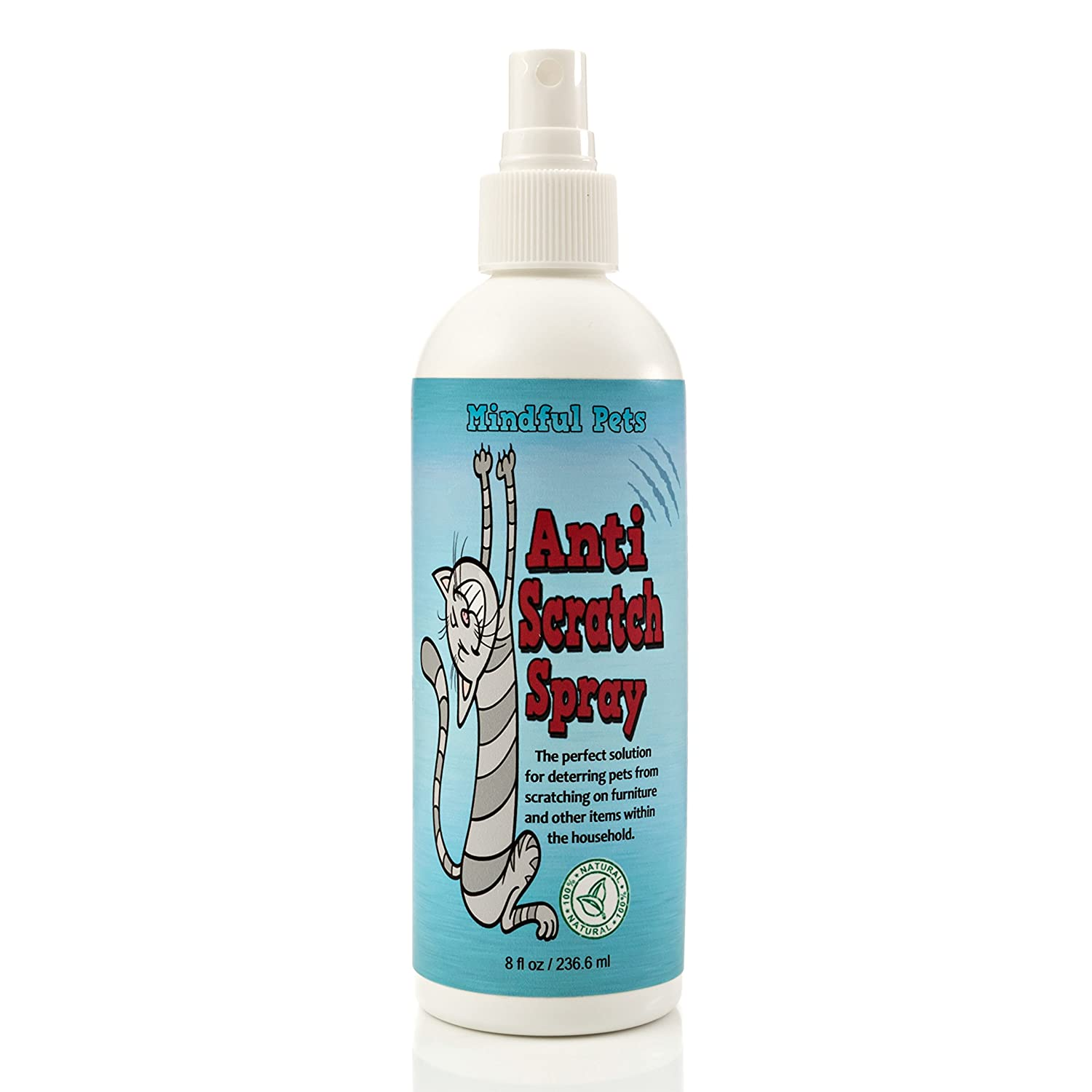 Anti Cat Scratch Spray - Stop Cat Scratching Now Naturally - By Mindful Pets, 8oz