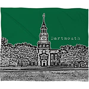 Dartmouth Green Fleece Throw