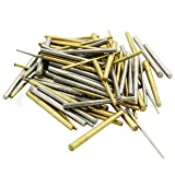 100 x Clock Taper pins Steel Brass assorrted Mix Sizes pin Tapered Repairs Parts (Tamaño: 2.5
