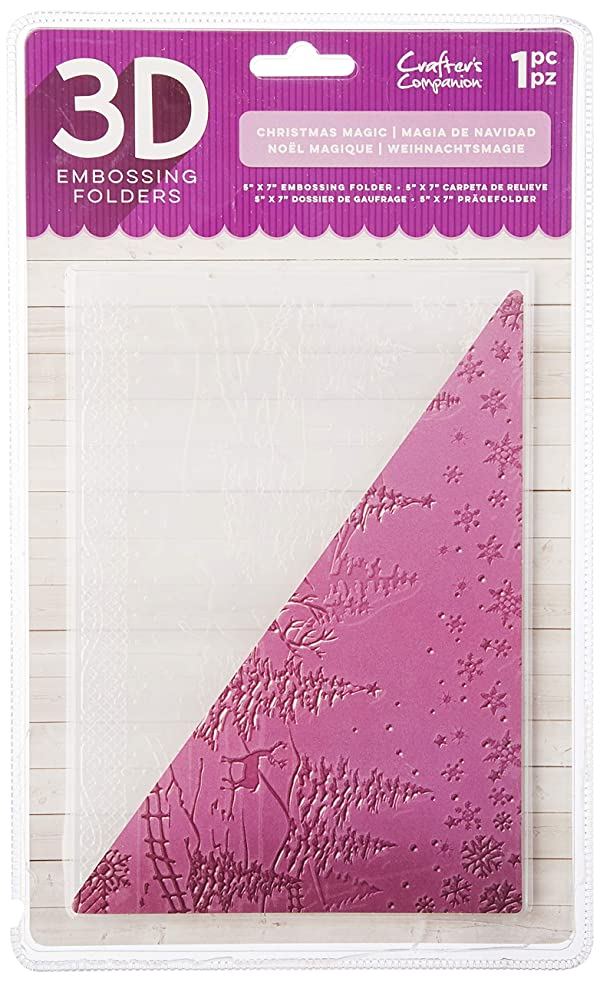 Die'sire EF5-3D-CMA 3D Embossing Folder, Clear (Color: Clear)