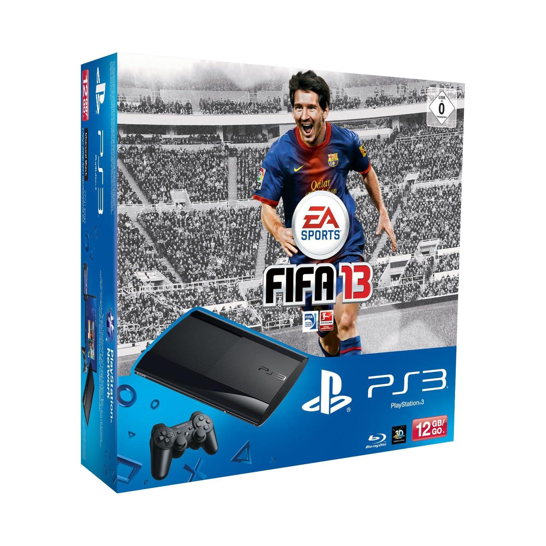 PS3 Super Slim 12 GB+ 2 DualShock 3 Controller + FIFA 13 für nur 219,- Euro