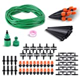 femor Watering Irrigation System Drip Kits, DIY Water Saving Irrigation Equipment Set with 66ft Premium Green Distribution Tubing Hose and Atomizing N