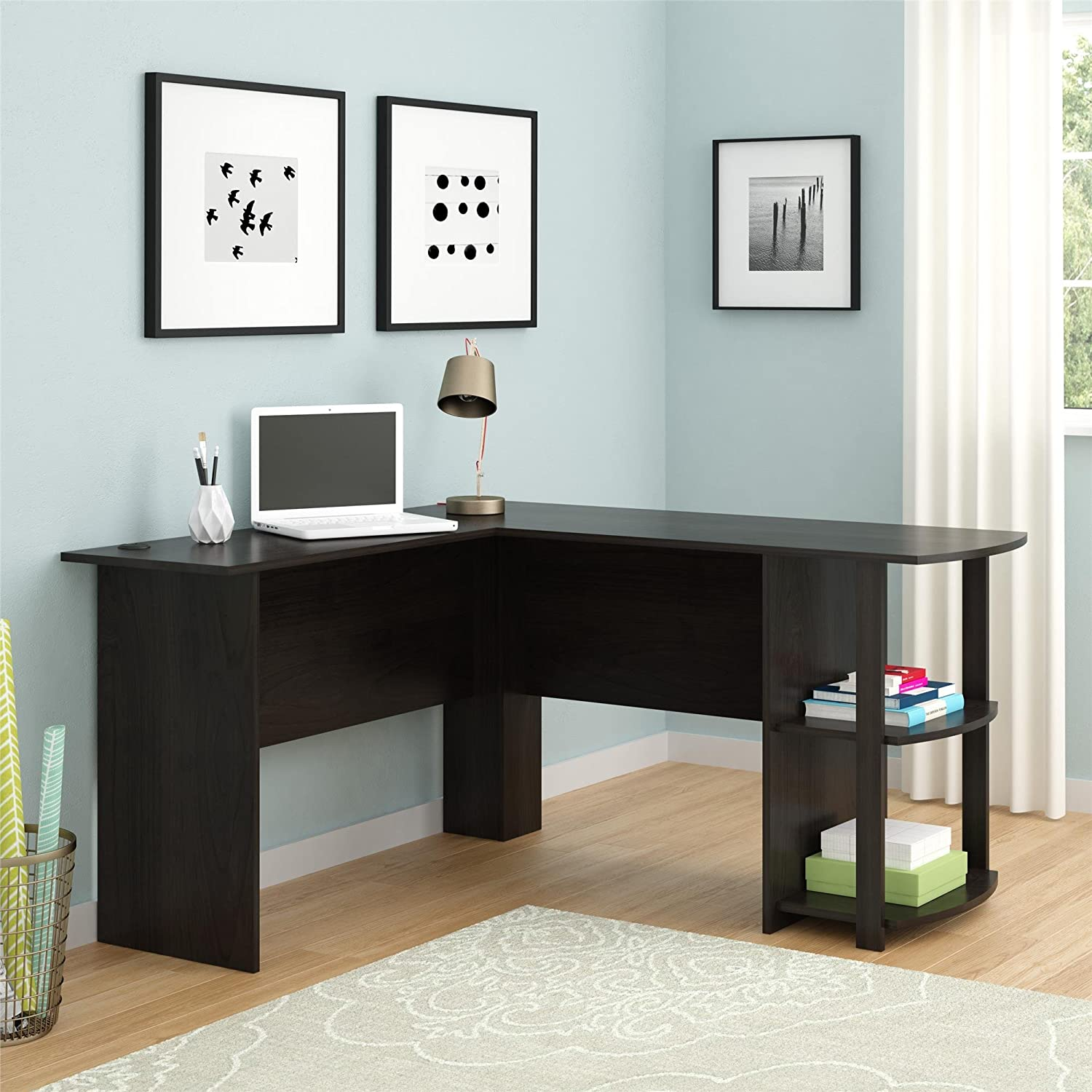 Altra Dakota L-Shaped Desk with Bookshelves $69