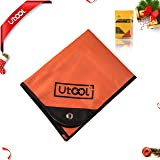 UTOOL Heavy Duty Emergency Blanket Tarp, Extra Large Thermal Reflective Survival Outdoor Emergency Blanket with Water Proof, 93% Heat Retention, Tear Resistant, Reusable Features (Color: Orange and Silver, Tamaño: Heavy Duty)