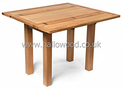 New Small Compact Oak Folding Table