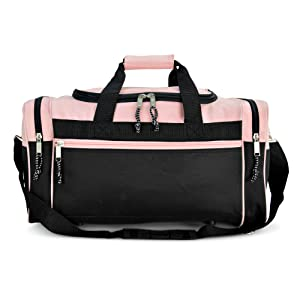 ... DALIX 19 Blank Sports Duffle Bag Gym Bag Travel Duffel with Adjustable  Strap in Pink ( 04eb213066