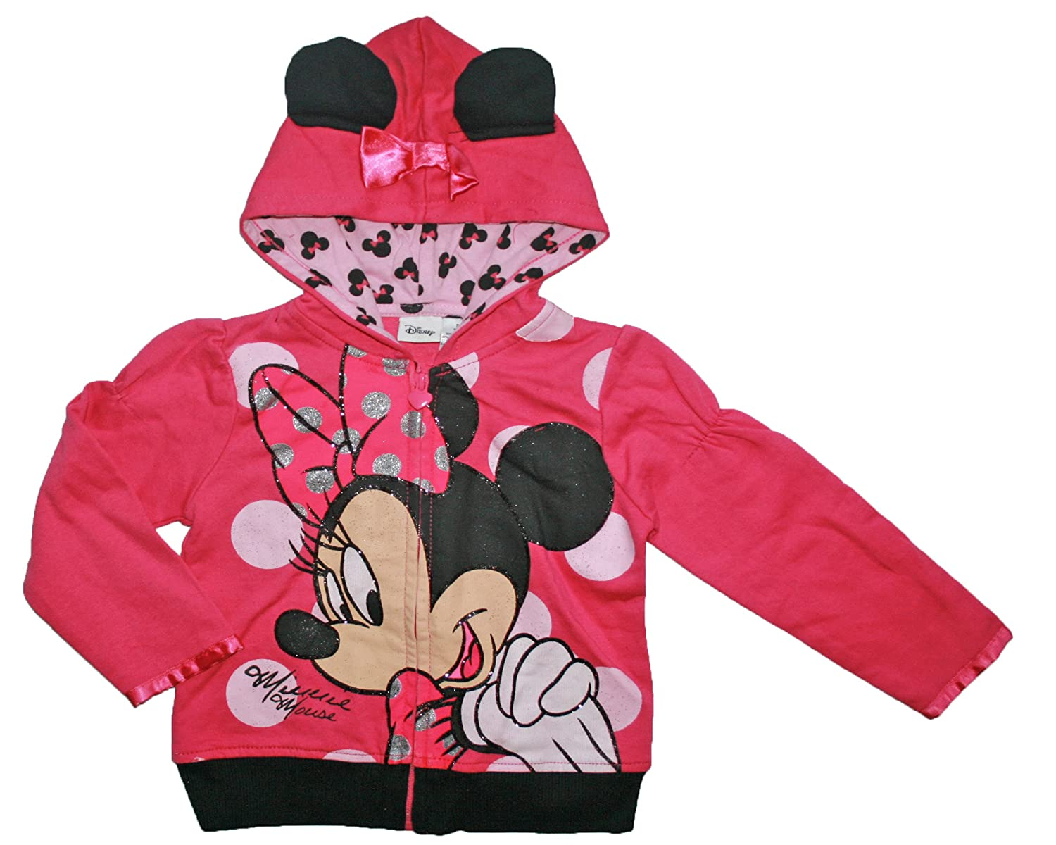 Толстовки детские Minnie Mouse Girls 12M-5T Zip up Character Hoodie