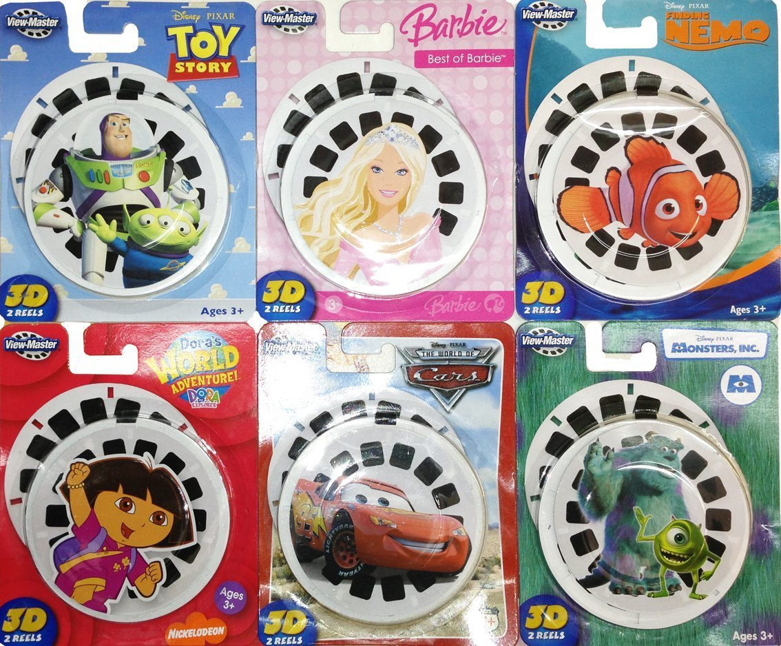 View Master 3d Reels – 6 Packs Disney – Cars – Finding Nemo – Dora the Explorer – Barbie – Monsters Inc – Toy Story günstig bestellen