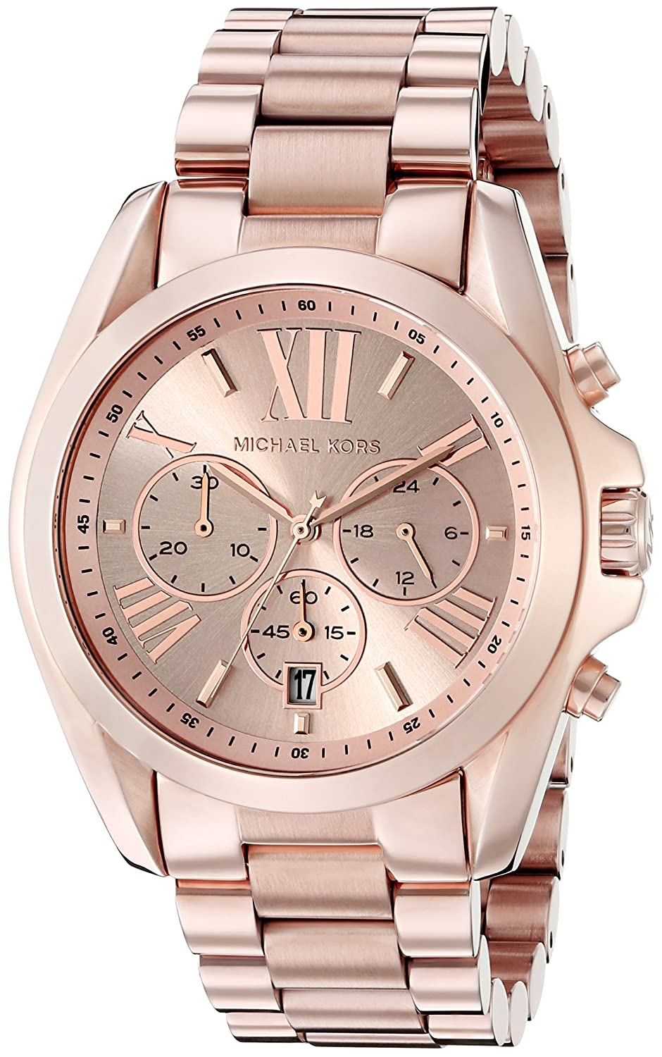 michael kors bradshaw chronograph rose gold tone watch. Black Bedroom Furniture Sets. Home Design Ideas
