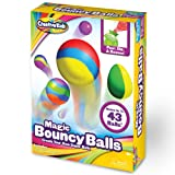 Creative Kids DIY Magic Bouncy Balls - Create Your Own Power Balls Craft Kit for Kids - Includes 20 Bags of Multicolored Crystal Powder & 5 Molds - Makes Up To 43 Balls