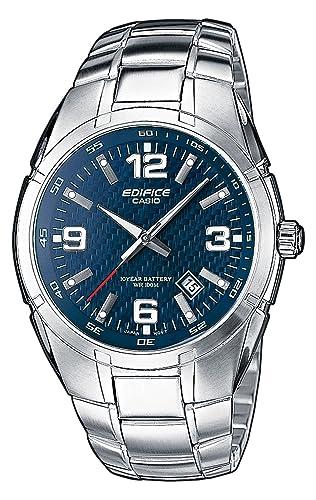 CASIO EF-125D-2AVEF Edifice - Reloj de caballero de cuarzo, correa de acero inoxidable color plata