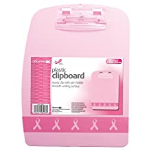 Officemate Breast Cancer Awareness Designer Clipboard, Pink, 1 Clipboard (08903)