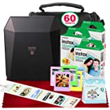 Fujifilm Instax Share SP-3 Smartphone Printer (Black) with 60 Sheets of Instant Square Film with Platinum Bundle (USA Warrantty) (Color: Black, Tamaño: 3pk)
