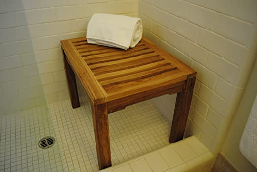 teak chair teak shower bench 2